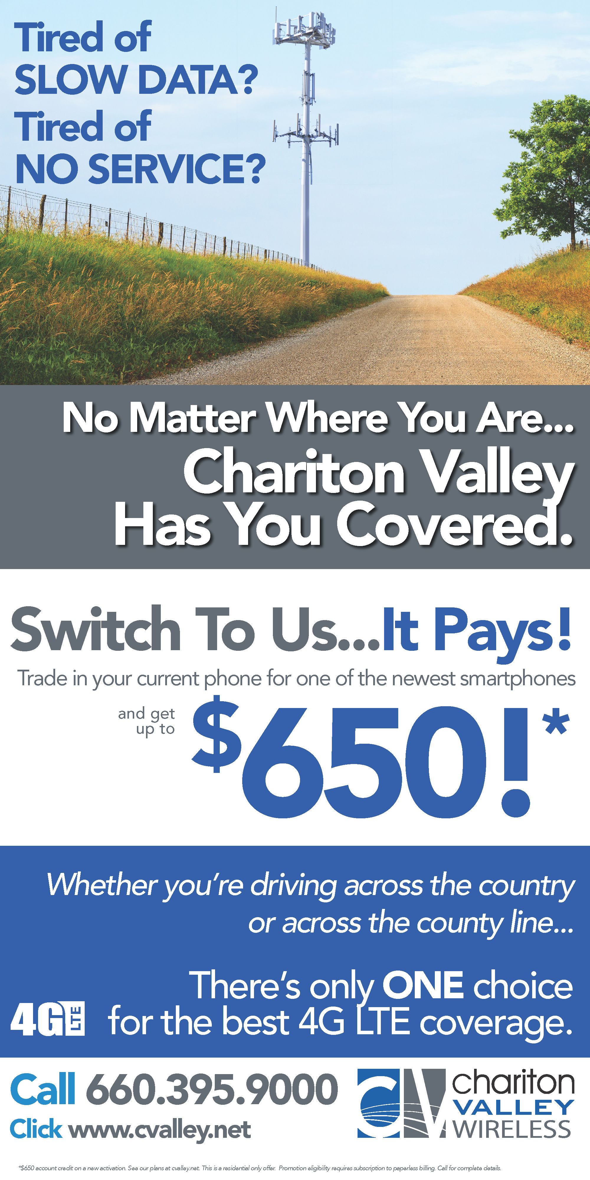 CV Wireless Local Coverage – Full Page | Chariton Valley